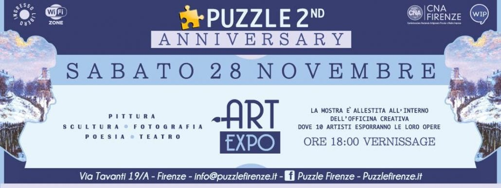 Puzzle Art Expo - 'Anniversary'. Group exhibition, Florence, Italy, November 28th - December 31th 2015.