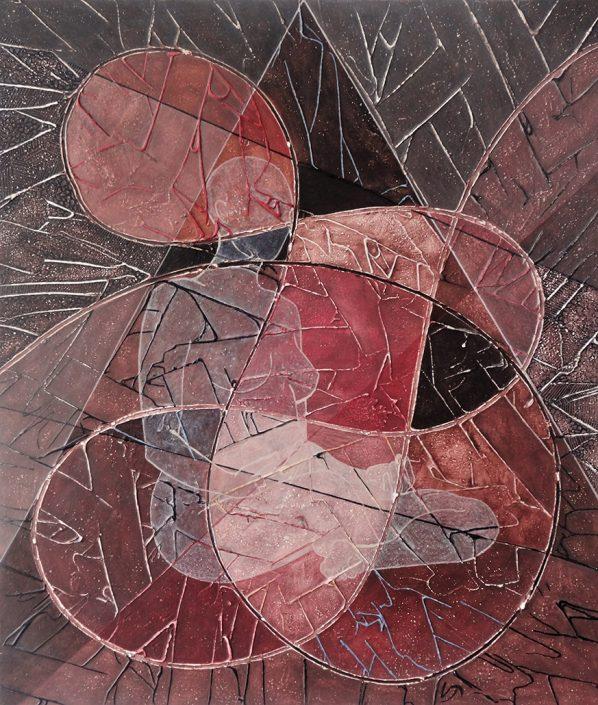 Vanessa Thyes, A due Passi (2016), 60 x 70 cm, tempera on canvas