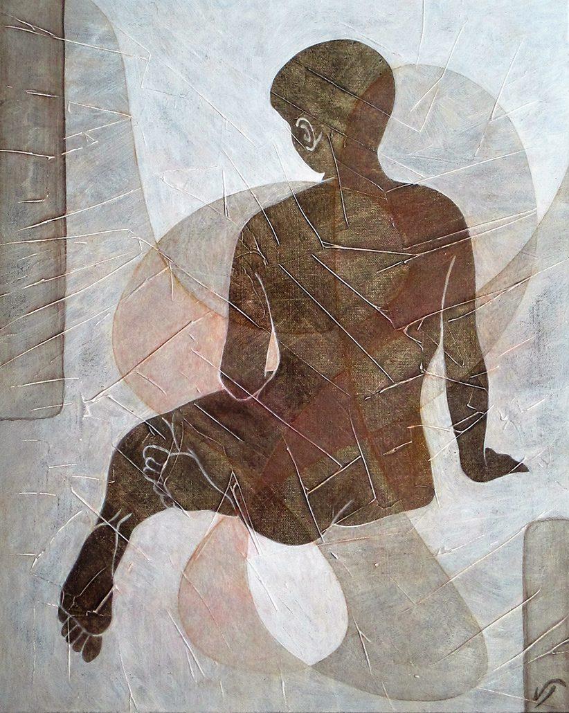 Vanessa Thyes, Nudo I (2016), 40 x 50 cm, tempera su tela