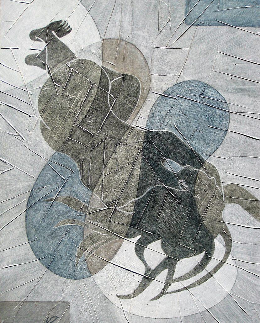 Vanessa Thyes, Nudo II (2016), 40 x 50 cm, tempera su tela