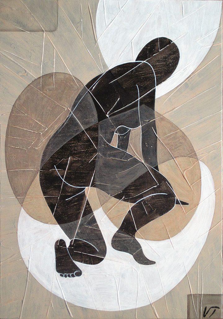 Vanessa Thyes, Nudo III (2016), 30 x 50 cm, tempera su tela