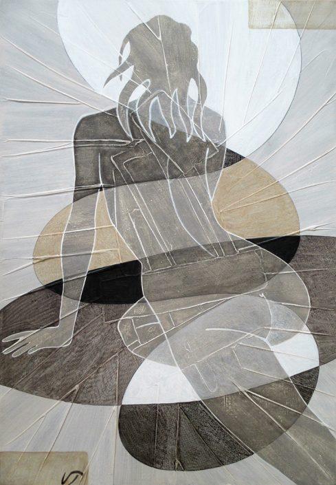 Vanessa Thyes, Nudo IV (2016), 30 x 50 cm, tempera on canvas