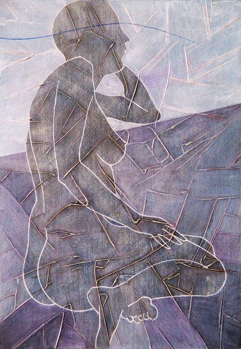 Vanessa Thyes, Pensiero (2016), 35 x 50 cm, tempera on canvas
