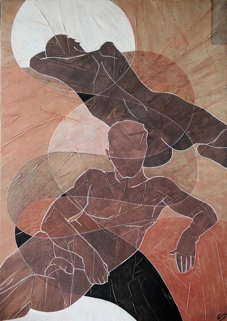 Vanessa Thyes, Svelato (2016), 50 x 70 cm, tempera su tela