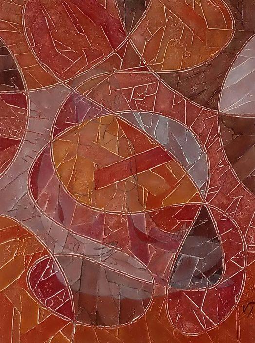 Vanessa Thyes, Anima (2017), 60 x 80 cm, tempera on canvas