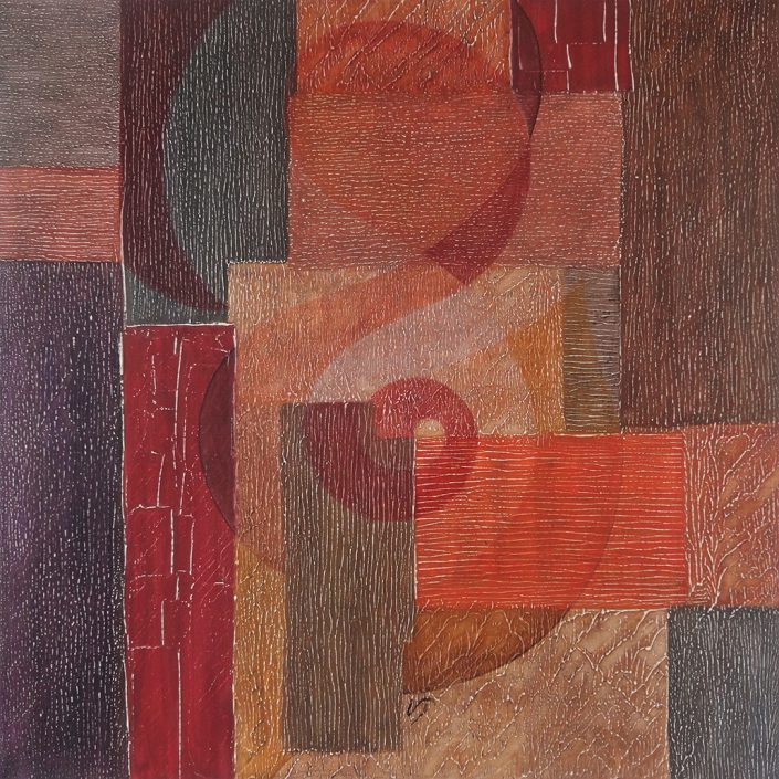 Vanessa Thyes, Miracolo (2017), 70 x 70 cm, tempera on canvas
