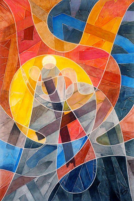 Vanessa Thyes, Natività (2017), 100 x 150 cm, tempera on canvas