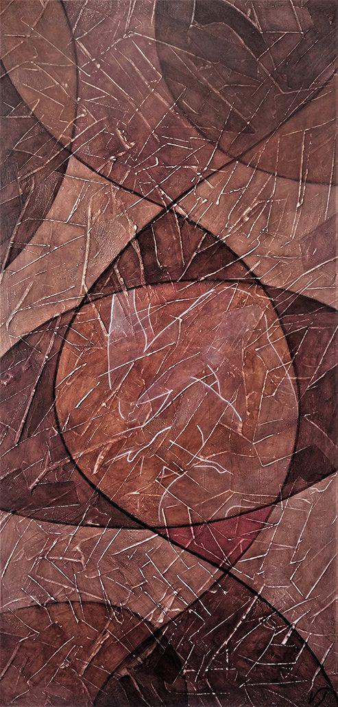 Vanessa Thyes, Passaggio (2017), 120 x 60 cm, tempera su tela