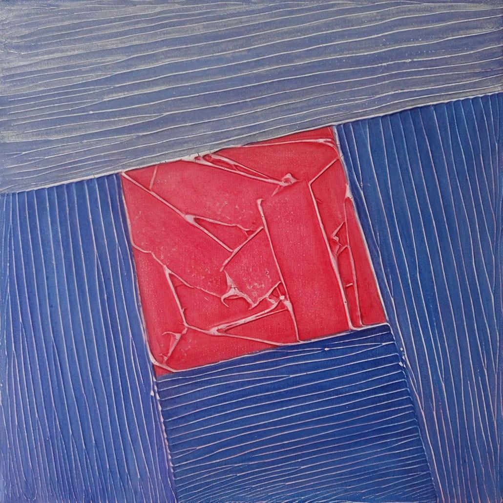 Vanessa Thyes, Specchio (2018), 40 x 40 cm, tempera su tela