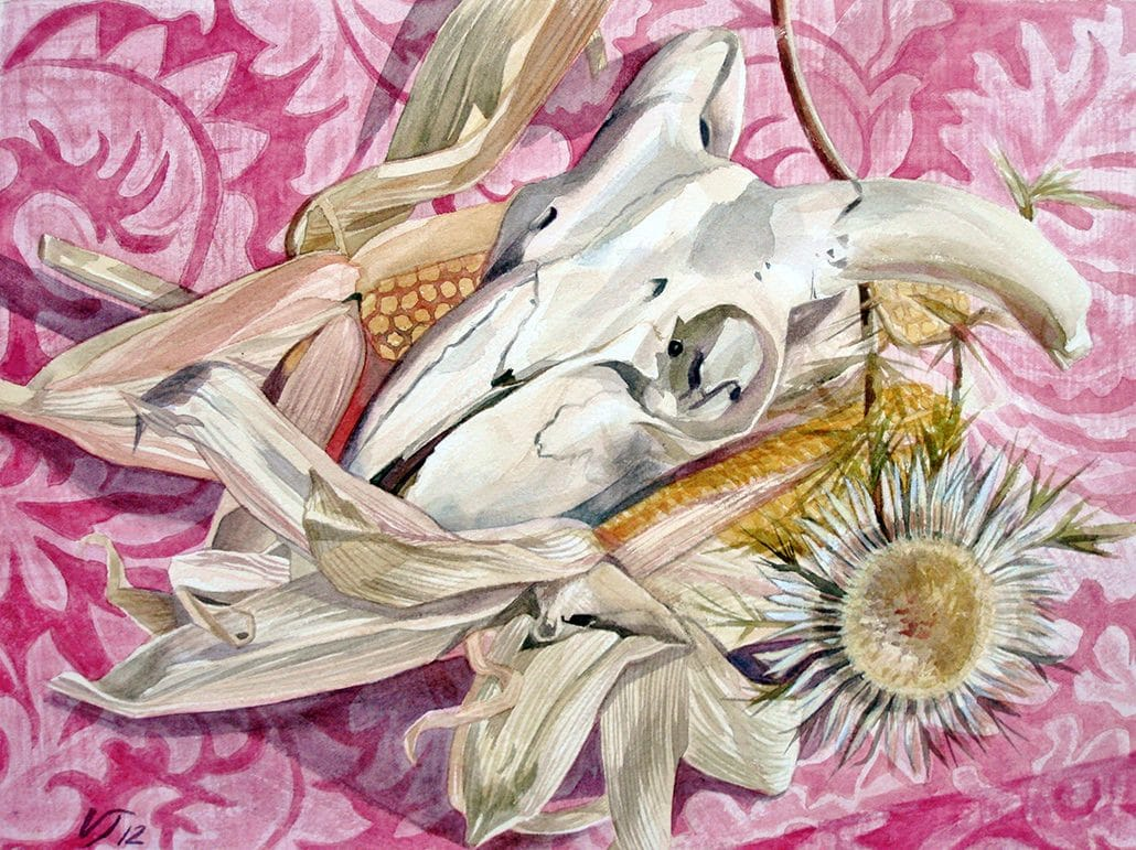 Vanessa Thyes, Pink (2012), 30 x 40 cm, watercolors on paper