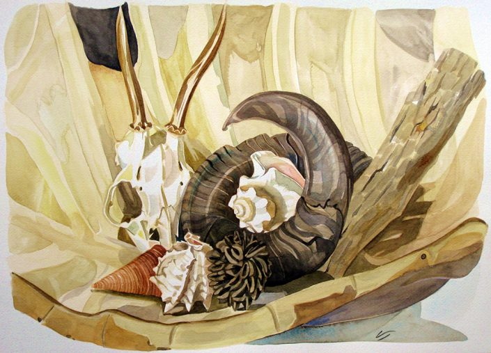 Vanessa Thyes, Together (2012), 36 x 50 cm, watercolors on paper