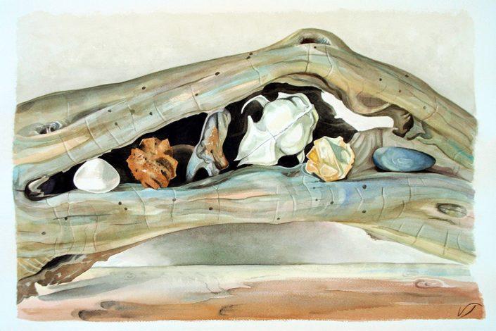 Vanessa Thyes, Incastro (2013), 52 x 72 cm, watercolors on paper