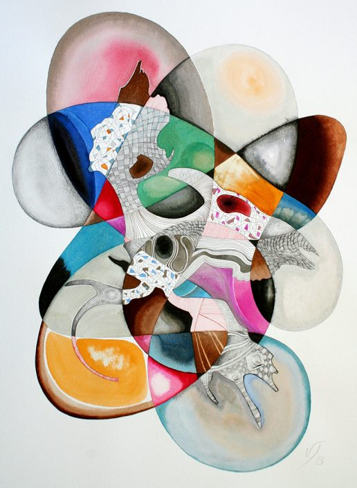 Vanessa Thyes, Nebulosa III (2013), 56 x 76 cm, watercolors, pencil and ink on paper