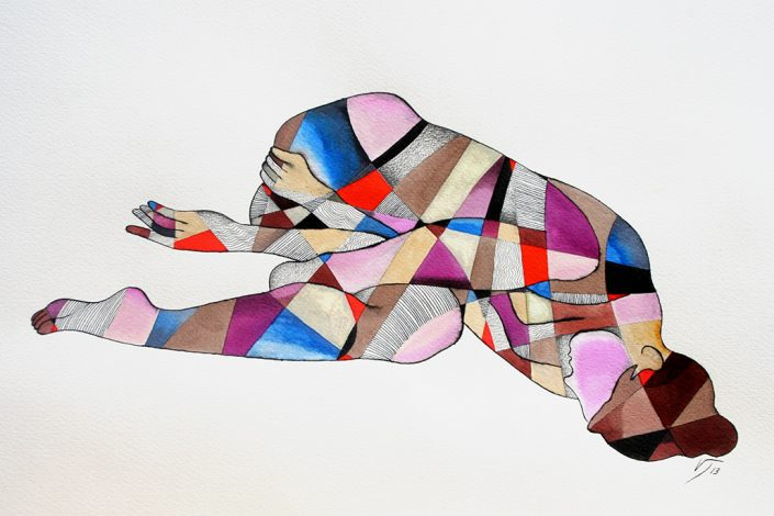 Vanessa Thyes, Mascotte (2013), 45,5 x 30,5 cm, watercolors, pencil and ink on paper