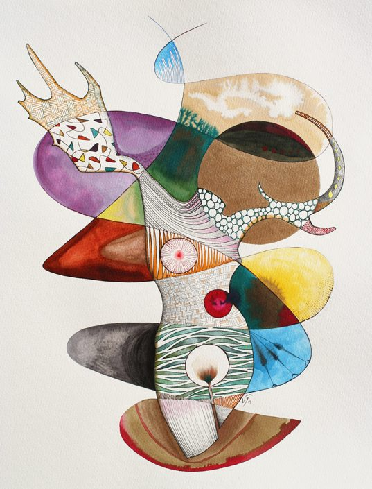 Vanessa Thyes, Rudimenti (2014), 40 x 50 cm, watercolors, pencil and ink on paper