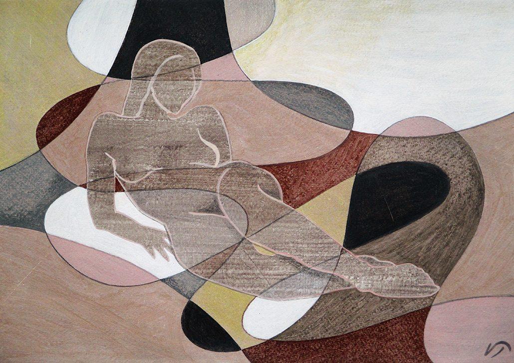 Vanessa Thyes, Per Antonio (2016), 35 x 25 cm, tempera on paper