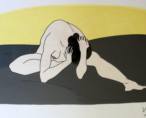 Vanessa Thyes, Nudo veloce Ballett (2011), 50 x 70 cm, tecnica mista su acetato