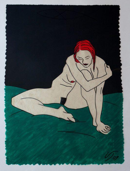 Vanessa Thyes, Nudo veloce nippona (2011), 50 x 70 cm, mixed technique on acetate