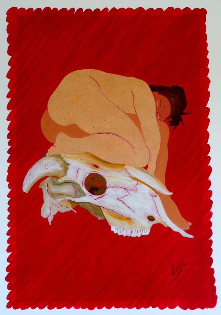 Vanessa Thyes, Simbiosi (2011), 50 x 70 cm, tecnica mista su acetato