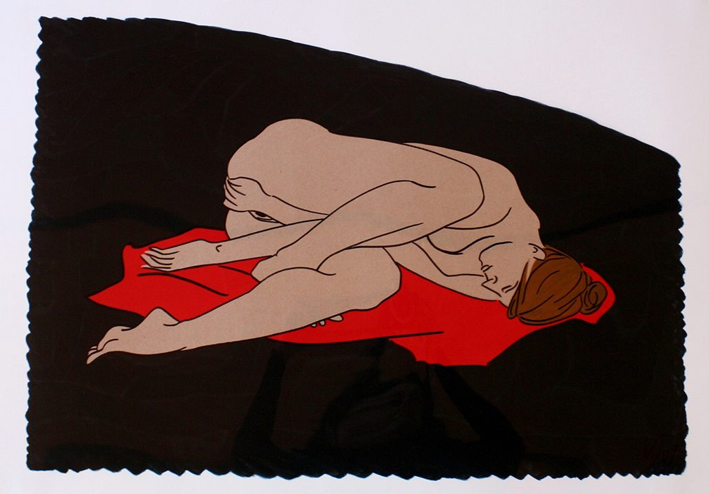 Vanessa Thyes, Nudo veloce Stromboli (2011), 50 x 70 cm, mixed technique on acetate