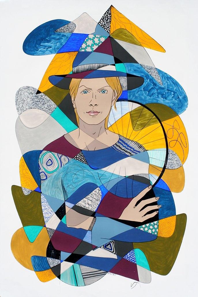 Vanessa Thyes, Magical Beck (2014), 70 x 100 cm, tecnica mista su acetato