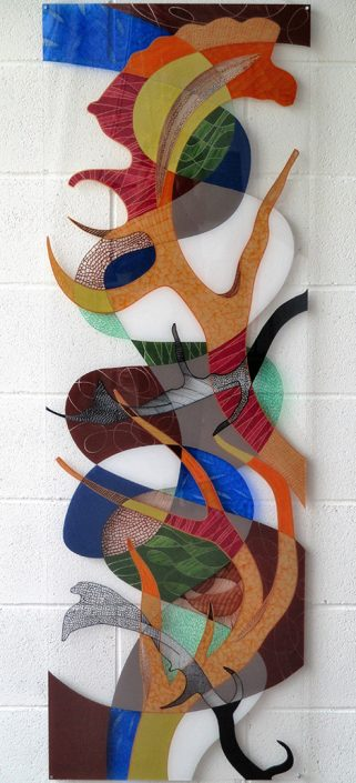 Vanessa Thyes, Interferenze (2016), 50 x 150 cm, mixed technique on acrylic glass