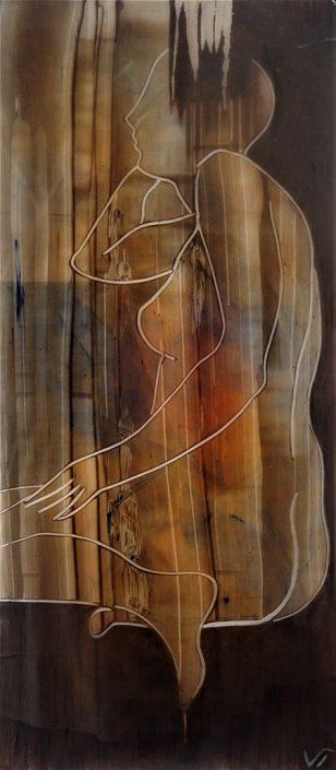 Vanessa Thyes, Bruna (2017), 27 x 60 cm, acrylic on acetate