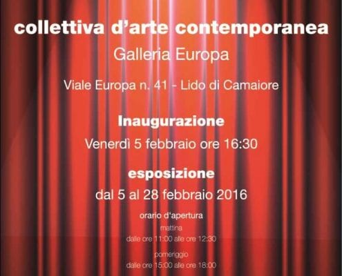 5.2. - 28.2.2016 | Theatre, Farce and Masquerade | Group exhibition | Gallery Europa | Lido di Camaiore, Italy