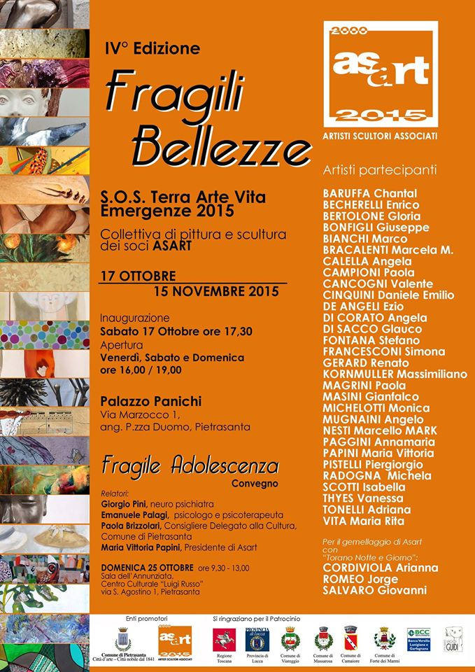 17.10. - 15.11.2015 | Fragile Beauties 4 – Fragile Adolescence | Group exhibition by ASART in Palazzo Panichi | Pietrasanta, Italy