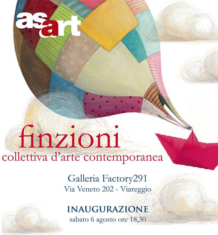 August 2016 | FICTIONS | Group exhibition of contemporary art | Gallery Factory291 | Viareggio, Italy