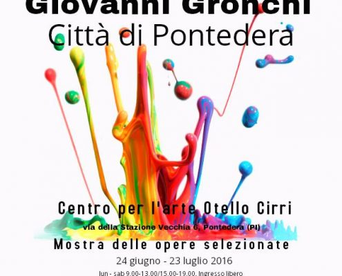 24.6. - 23.7.216 | Premio Nazionale di Arti Visive Giovanni Gronchi | Group exhibition | Art Center Otello Cirri | Pontedera, Italy