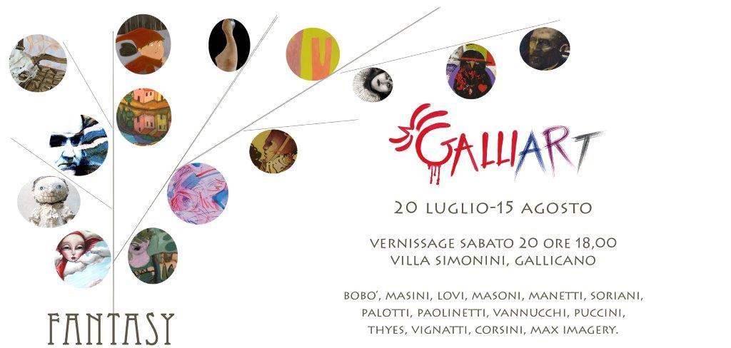 20.7. - 15.8.2013 | Galliart Fantasy | Group exhibition at Villa Simonini | Gallicano, Italy