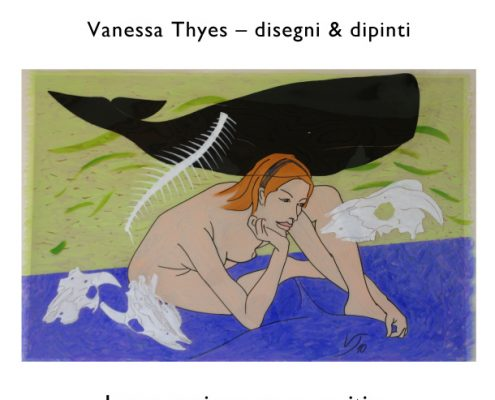 Hearts and Bones. Vanessa Thyes – drawings and paintings at Fashion store MAZZEI and Restaurant KAPPERI, Pontedera, Italy