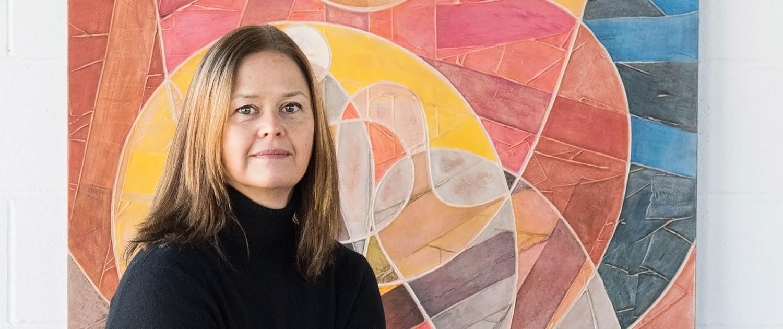 Vanessa Thyes in her studio. Foto by Enikö Lörinczi 2017