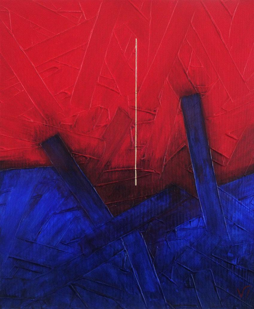 Vanessa Thyes, Campo Di Battaglia (2020), 65 x 54 cm, tempera su tela