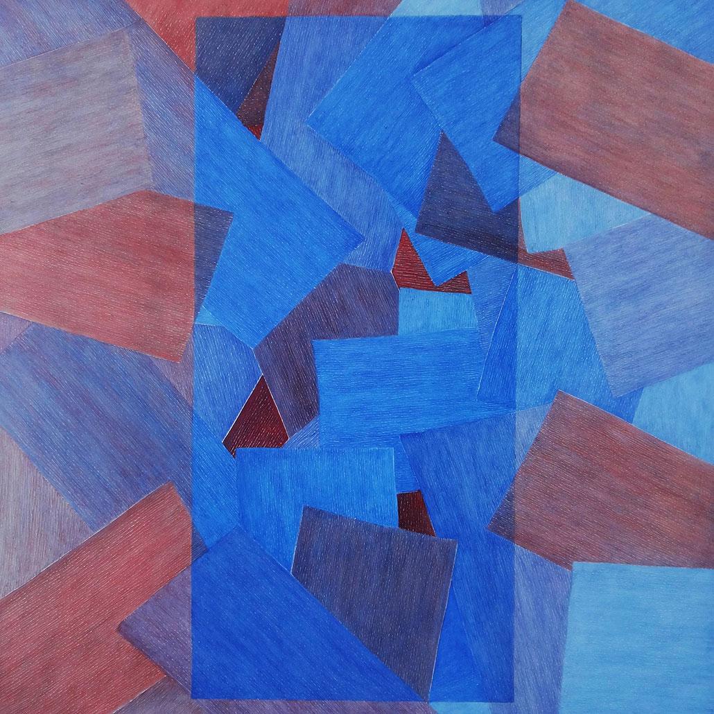 Vanessa Thyes, Figlio (2019), 90 x 90 cm, tempera su tela