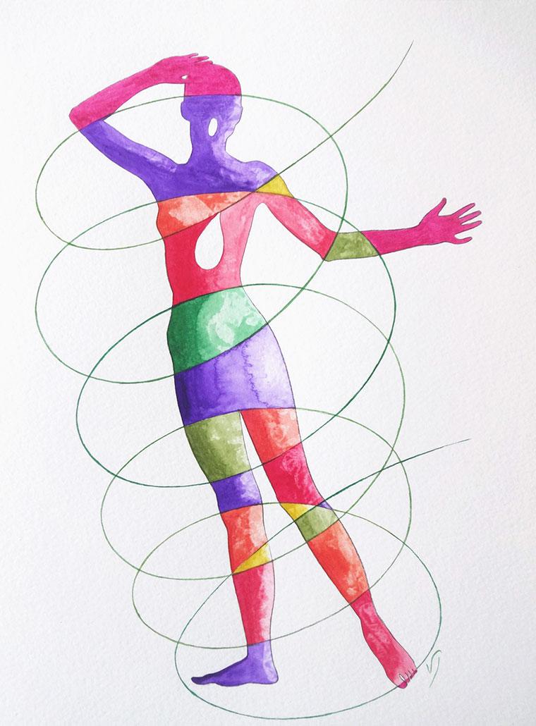 Vanessa Thyes, Turbinio (2020), 30 x 23 cm, watercolor and pencil on paper