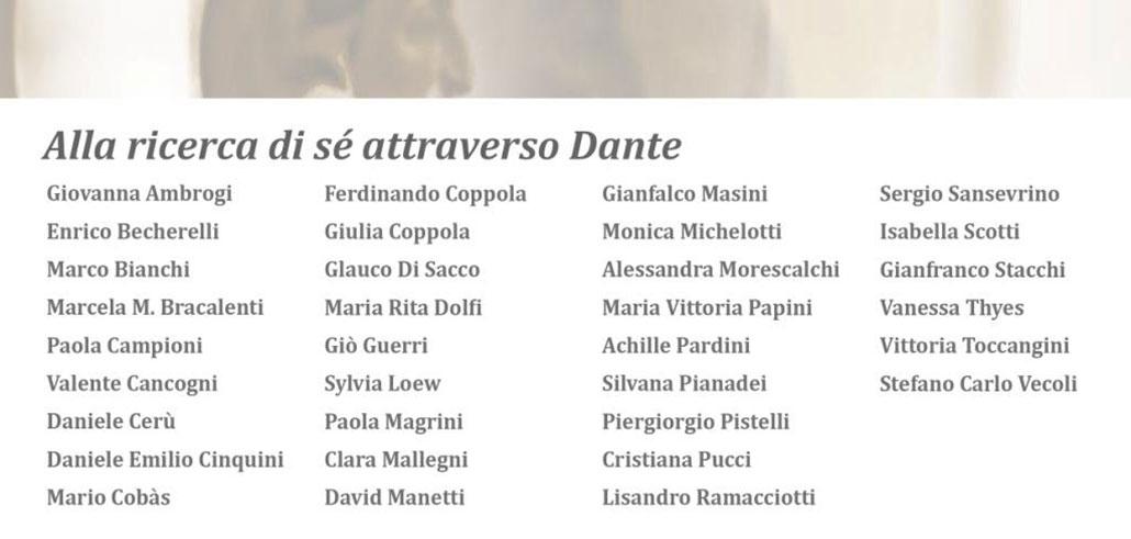 Alla ricerca di sé attraverso Dante, artisti